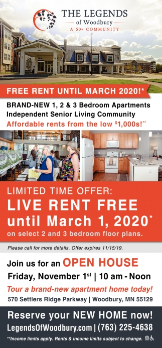 Free Rent Until March 2020!