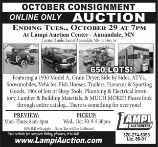 October Consignment