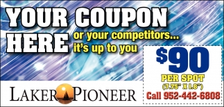 Your Coupon Here or Your Competitors...