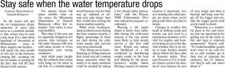 Stay Safe when the Water Temperature Drops