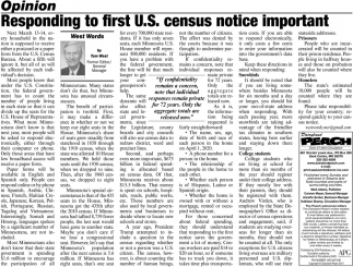 Responding to First U.S. Census Notice Important