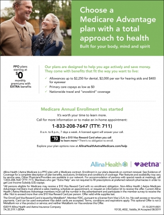 Choose a Medicare Advantage Plan with a Total Approach to Health
