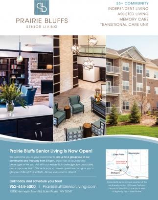 Prairie Bluffs Senior Living is Now Open!