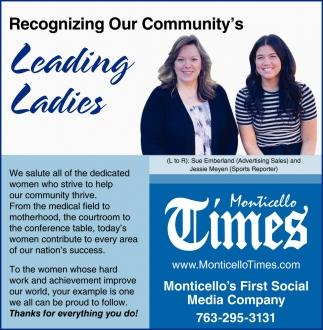 Recognizing Our Community's Leading Ladies