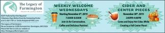 Weekly Welcome Wednesdays