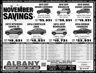 November Savings