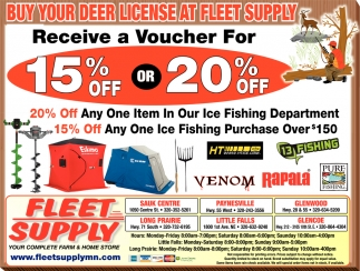 Buy Your Deer License at Fleet Supply