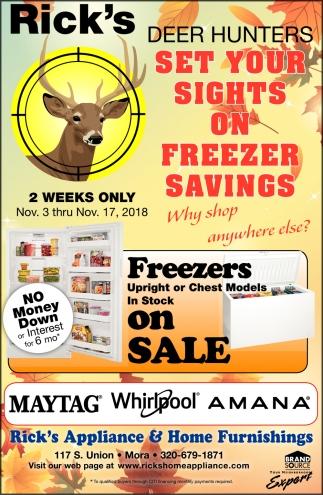 Set Your Sights On Freezer Savings