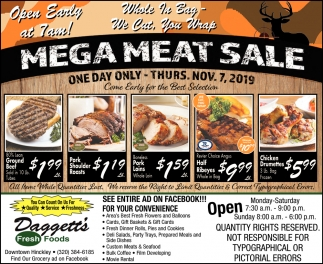 Mega Meat Sale