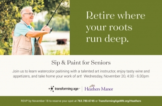 Sip & Paint for Seniors