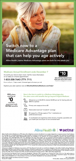 Switch Now to a Medicare Advantage Plan that Can Help You Age Actively