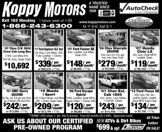 Ask Us About Our Certified Pre-Owned Program