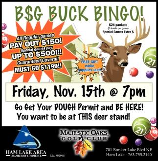 B$G Buck Bingo!