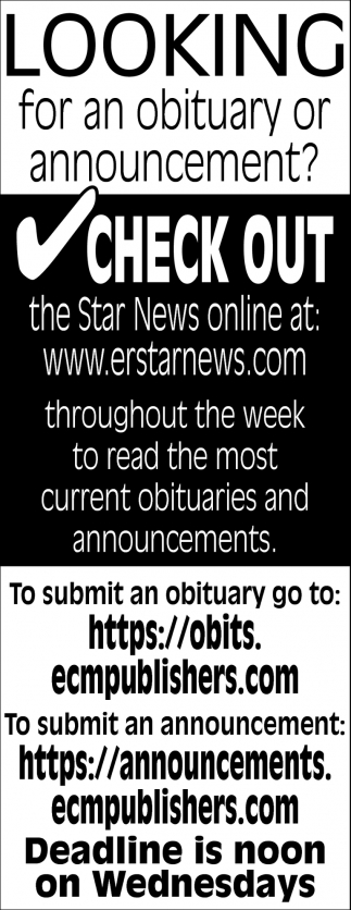 Obituary Announcement