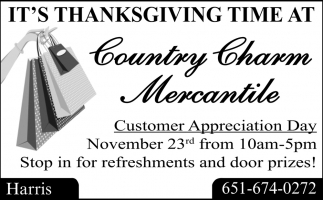 It's Thanksgiving Time at Country Charm Mercantile