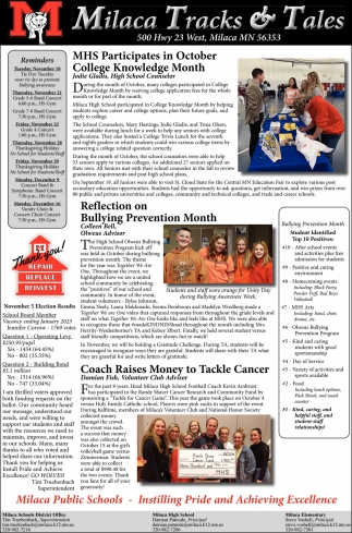 MHS Participates in October College Knowledge Month