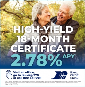 High-Yield 18-Month Certificate