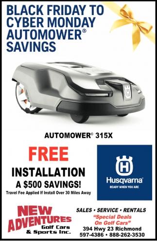 Black Friday to Cyber Monday Automower Savings