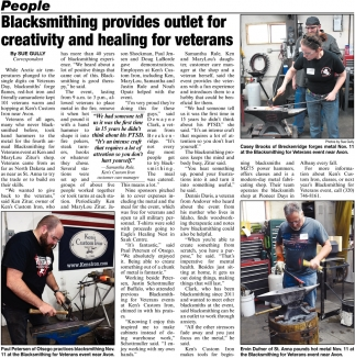 Blacksmithing Provides Outlet for Creativity & Healing for Veterans