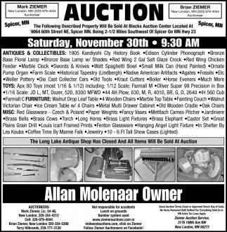 Auction Saturday, November 30th