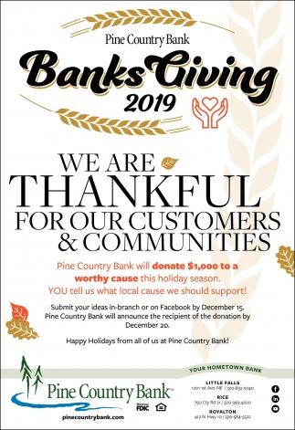 Banks Giving 2019