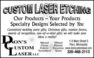 Custom Laser Etching