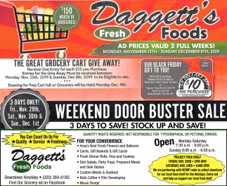 Weekend Door Buster Sale