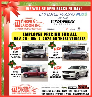 We Will be Open Black Friday!