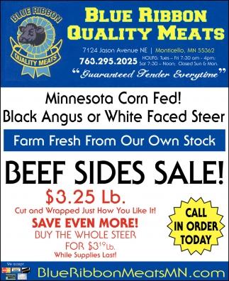 Beef Sides Sale!