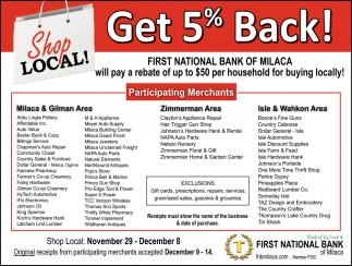Get 5% Back!