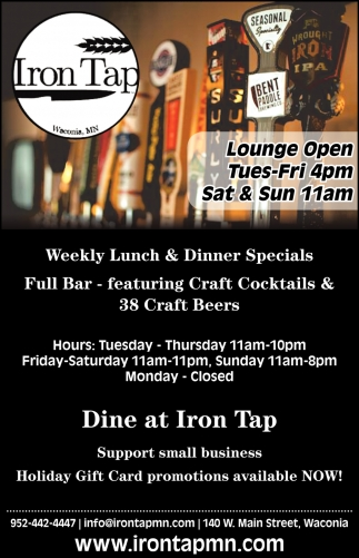 Dine at Iron Tap