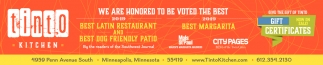 We are Honored to be Voted the Best Latin Restaurant