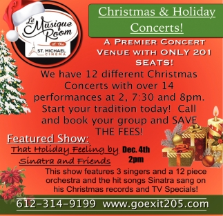 Christmas & Holiday Concerts!