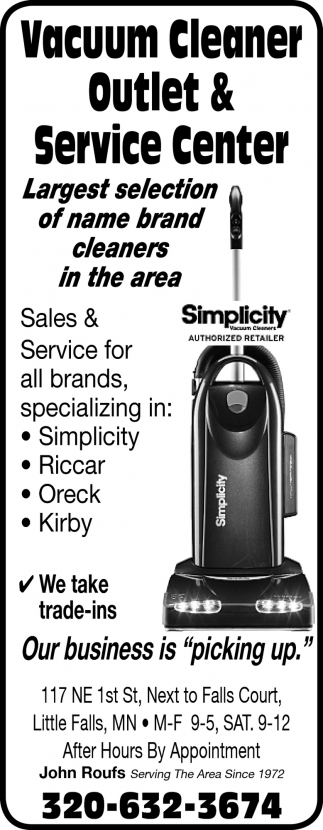 Largest Selection Of Name Brand Cleaners In The Area