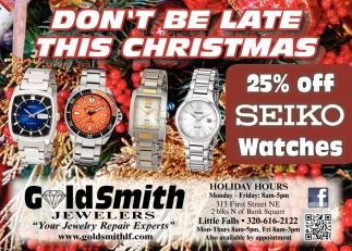 Don't Be Late this Christmas