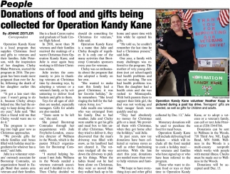 Donations of Food and Gifts Beign Collected for Operation Kandy Kane