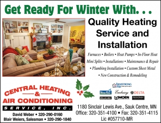Quality Heating Service & Installation