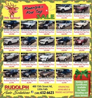 9th Annual Rudolph's Red Tag Sale