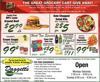 The Great Grocery Cart Give Away!