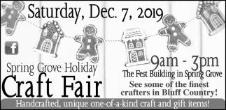 Spring Grove Holiday Craft Fair