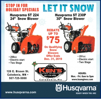 Stop in for Holiday Specials