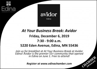 At Your Business Break: Avidor