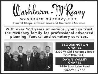 Funeral Chapels, Cemeteries & Cremation Services