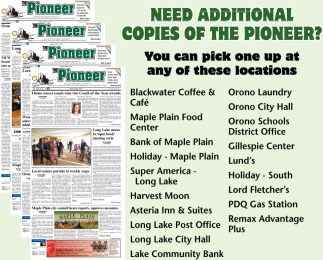 Need Additional copies of the Pioneer?