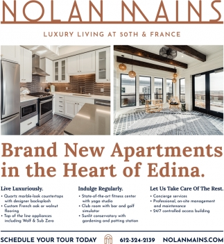 Brand New Apartments in the Heart of Edina