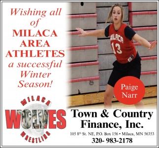 Wishing All of Milaca Area Athletes a Successful Winter Season!