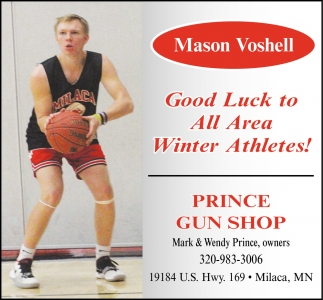 Good Luck to All Area Winter Athletes