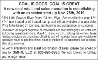 Coal is Good, Coal is Great