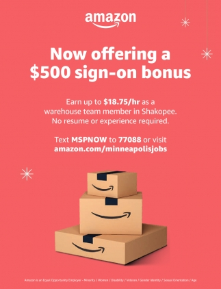 Now Offering a $500 Sign-On Bonus