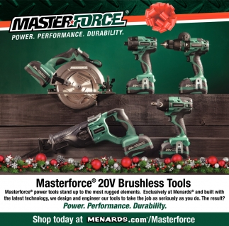 Masterforce 20V Brushless Tools